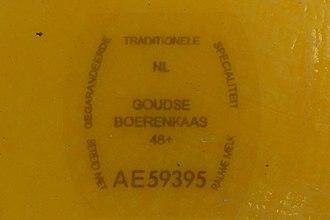 Boerenkaas - Image: Kaasmerk goudse boerenkaas
