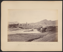 Kabul River, Old Bridge, Bala Hissar in the Distance WDL11484.png
