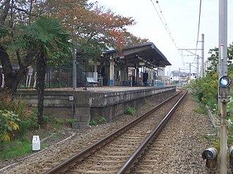 Kagawa Station (Kanagawa) - Image: Kagawa Station platform