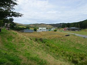 Kaitangata, New Zealand - Empty sections in Kaitangata