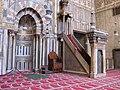 Kanzel und Gebetsnische Sultan Hassan Moschee.jpg