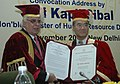 Kapil Sibal awarded an Honorary D. Litt. Degree to the DG, UNESCO, Mr. Koichiro Matsuura, at the Convocation of the National University of Educational Planning and Administration, in New Delhi on November 11, 2009.jpg