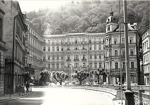 Grandhotel Pupp - The hotel in the year 1977.