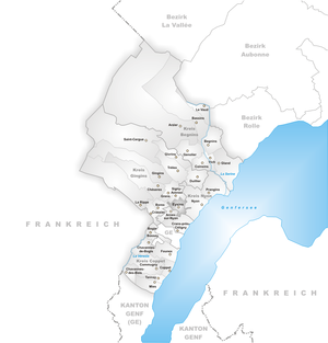 Eysins - Image: Karte Gemeinde Eysins