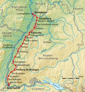 Mannheim–Karlsruhe–Basel railway railway line