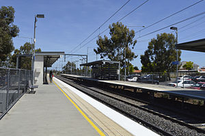 Keilor Plains railway station - Southbound view from Platform 1 in December 2013