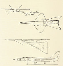 Four sketch drawings of an aircraft