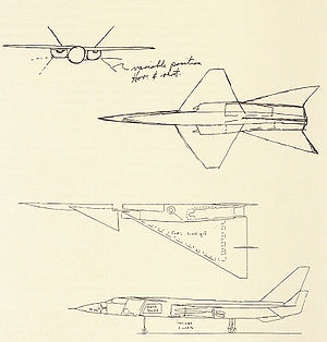 Lockheed XF-104 - Image: Kelly sketch
