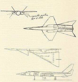 Lockheed XF-104 - Image: Kelly sketch