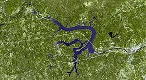 Keystone Lake - Image: Keystone Lake aerial map