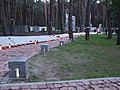 Kijów-Bykownia, alejka z tabliczkami epitafijnymi 3435 oficerów i obywateli polskich - path with epitaphs plates 3435 Polish officer and citizen - panoramio (1).jpg
