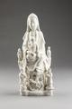 Kinesiska gudinnan Guanyin, Dehuaporslin, 1600-tal - Hallwylska museet - 100901.tif
