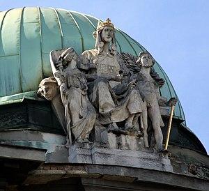 English: Sculpture symbolizing the Kingdom of ...