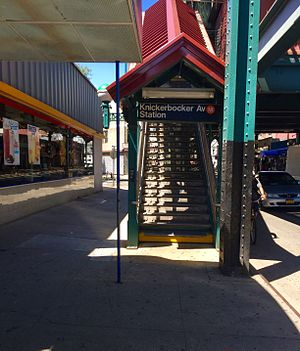 Knickerbocker Avenue (BMT Myrtle Avenue Line) - SW corner entrance