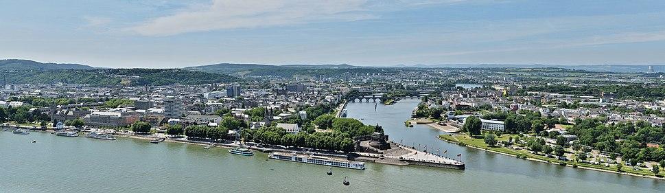 Koblenz - Panorama von Festung Ehrenbreitstein
