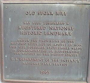 Old Sugar Mill of Koloa - Image: Koloa old sugar mill landmark plaque