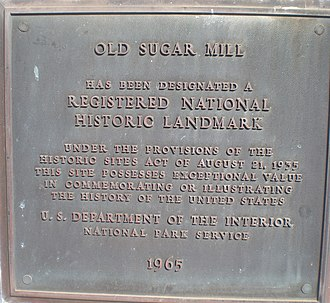 Old Sugar Mill of Koloa - Image: Koloa old sugar mill landmark plaque