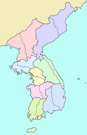 Jeolla Province - Image: Korea 8provinces en 2