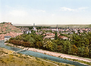 Bad Kreuznach - View over the town, about 1900