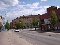 Kungsvägen i centrum av Mjölby, den 20 maj 2007.JPG