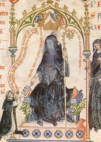 Kunigunde of Bohemia - Kunigunde in the Passional of Abbes Kunigunde