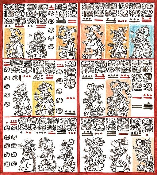 Láminas 8 y 9 del Códice de Dresden