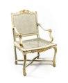 Länstol, del av möbelgrupp, 1700-tal - Hallwylska museet - 109818.tif