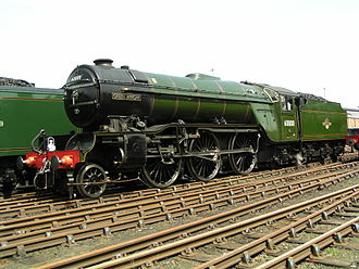 LNER Class V2 - 60800 Green Arrow at Crewe Works open day on 1 June 2003. This locomotive is the sole survivor of its class, and is seen in its British Railways guise.