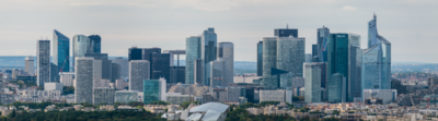 La Défense, widziana z Wieży Eiffla