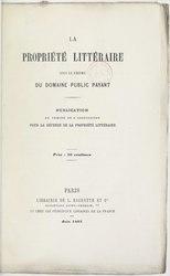 La Propriété littéraire sous le régime du domaine public payant