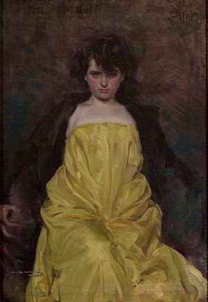 Ramon Casas - La Sargantaine, c. 1907, portrait of Júlia Peraire