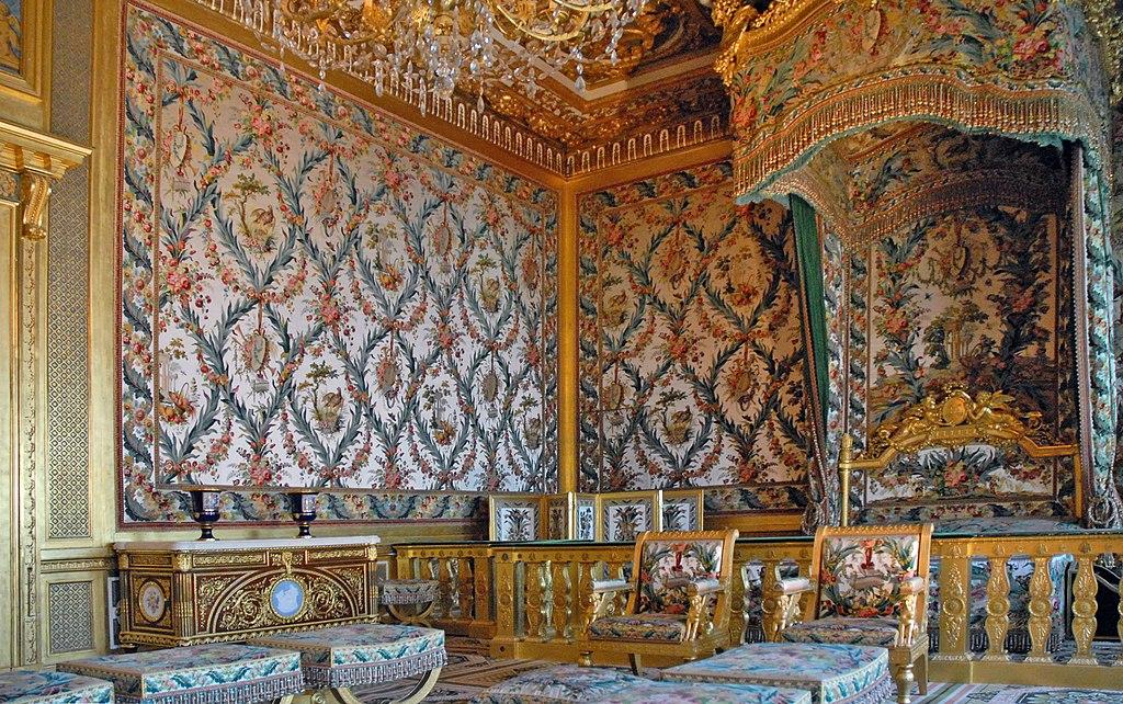 La chambre de l'Impératrice vue d ensemble (Château de Fontainebleau)
