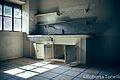 La cucina nella palazzina degli ospiti - stabilimento ex ceramiche Vaccari.jpg