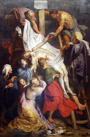 Crucifixion of Jesus - Descent from the Cross, depicted by Rubens