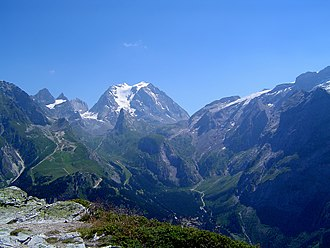 Vanoise massif - The south-west side of the Grande Casse