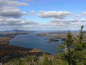 Potton, Quebec - View of Lac Memphrémagog from Owl's Head ski hill near Mansonville, Eastern Townships, Quebec, October 2009