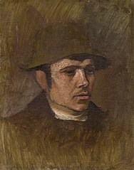 Head of a Worker in a Hat