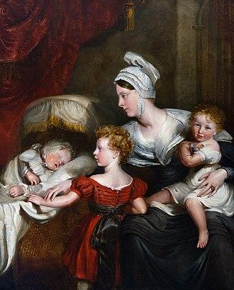 John Hayter - Image: Lady Augusta Fitz Clarence and children