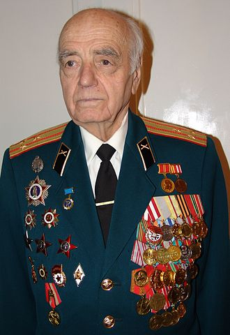 """Medal """"For the Capture of Budapest"""" - Colonel Ivan Ladyga, a recipient of the Medal """"For the Capture of Budapest"""""""