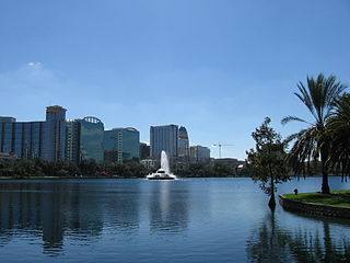Lake Eola Park lake of the United States of America