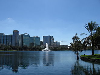 Lake Eola Park - View from the park site (2006)