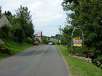 Lalobbe (Ardennes) city limit sign.JPG