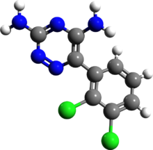 Lamotrigine 3d structure.png