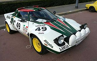 Group 4 (racing) - Group 4 Lancia Stratos HF. The Stratos helped Lancia win the World Rally Championship in 1974, 1975 and 1976.