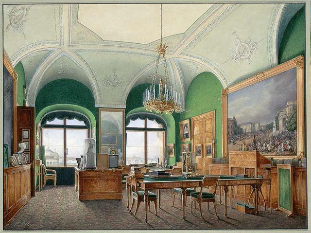 Большой кабинет Николая I в Зимнем дворце