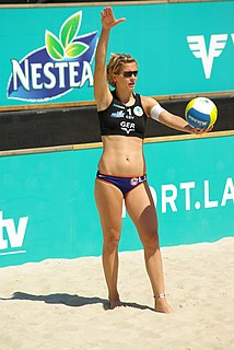 Laura Ludwig professional German beach volleyball player
