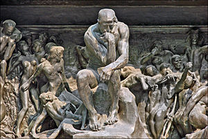 The Thinker - The Thinker in The Gates of Hell at the Musée Rodin