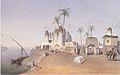 Leander Russ - Ein Fellahdorf in der Nähe von Kairo - 1842.jpeg