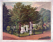 General Lee's last visit to Stonewall Jackson's grave, painting by Louis Eckhardt, 1872.