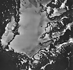 Lemon Creek Glacier, mountain glaciers, icefield, firn line, and glacial remnents, August 24, 1963 (GLACIERS 6378).jpg